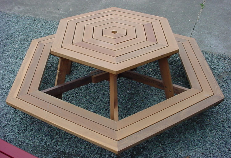 Permalink to free picnic table plans hexagon