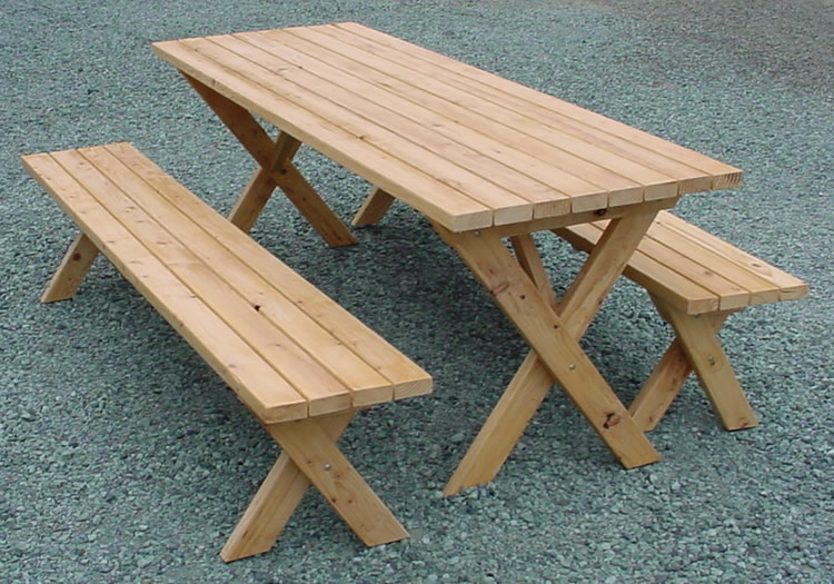 Table With Seats | eHow – Outdoor 6 foot pine picnic table 2 benches ...